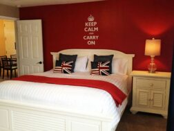 British themed room